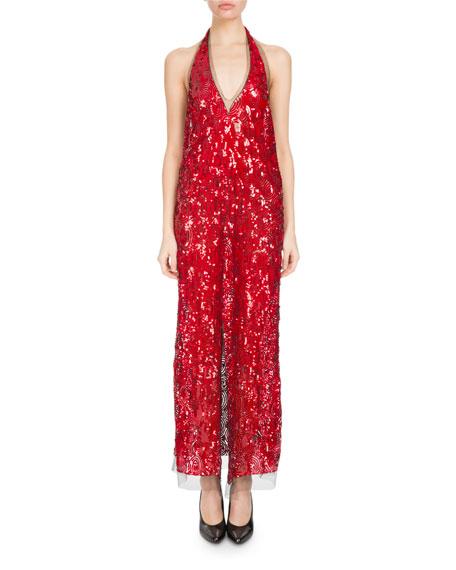 Danty Sequined Halter Dress