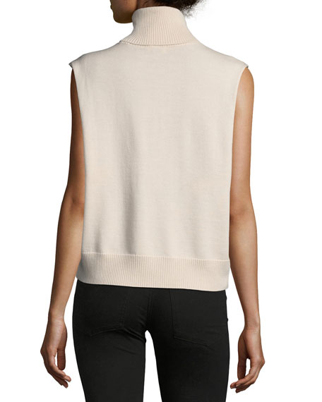 Tirze Sleeveless Cashmere Turtleneck Sweater