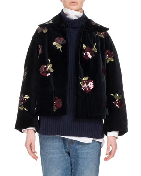 Ruddy Embroidered Velvet Jacket