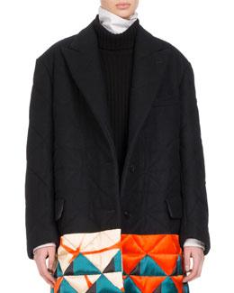 Remigino Quilt-Hem Coat