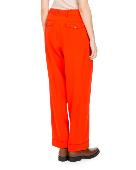 Peyton Twill Pleated Pants