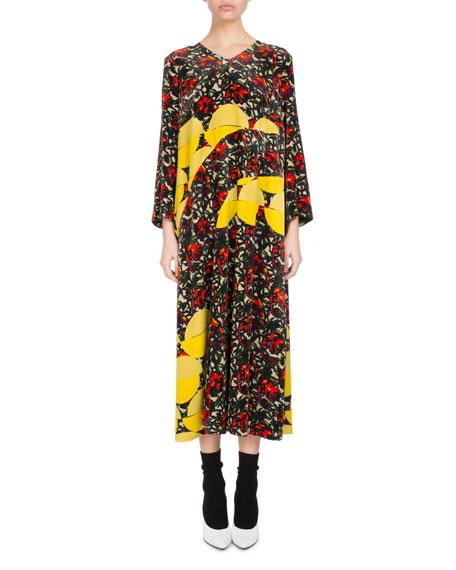 Durban Floral Velvet Midi Dress