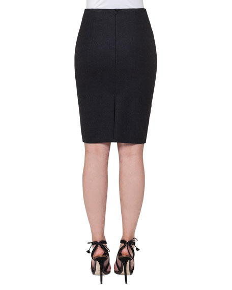 Stretch-Flannel Pencil Skirt