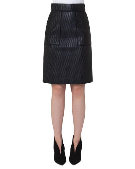 Scuba-Fused Leather Skirt