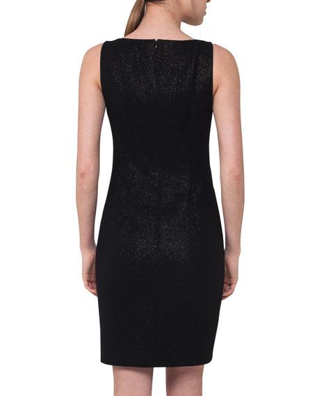 Sleeveless Metallic Sheath Dress