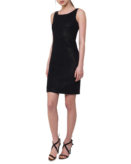 Sleeveless Metallic Sheath Dress