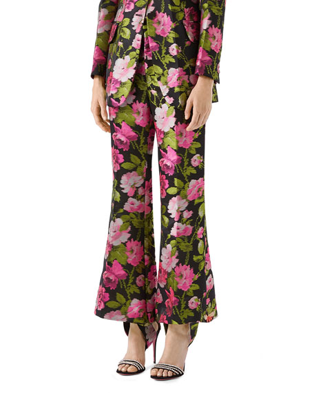 Romantic Flower Embroidered Pants