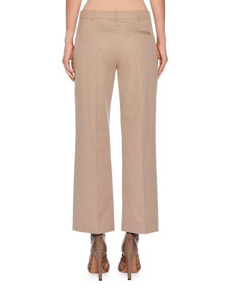 Boy Straight-Leg Cropped Pants, Light Taupe