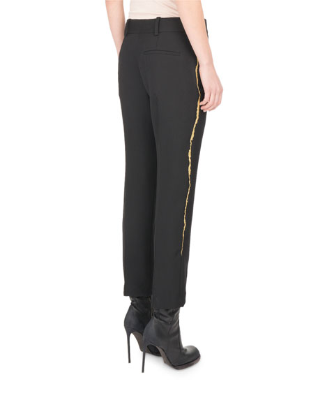 Goldstreak Cropped Wool Pants