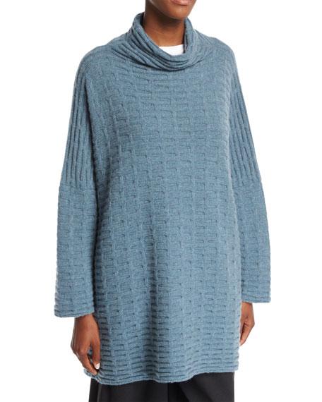 Funnel-Neck Cashmere Pullover Sweater