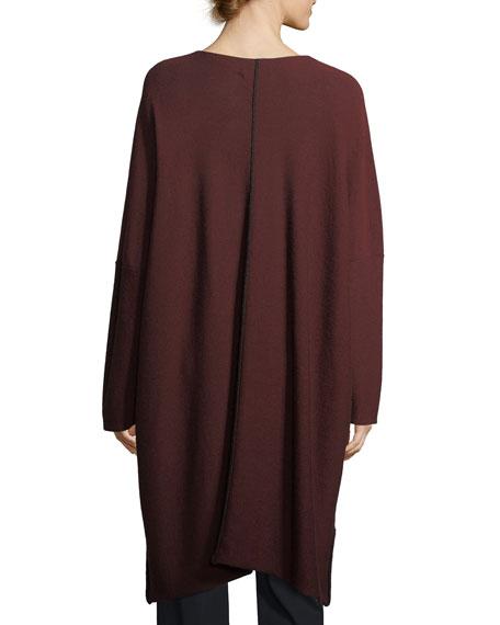 Split-Neck Merino Wool Pullover