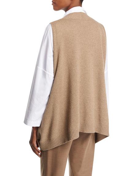 Sleeveless V-Neck Cashmere Pullover