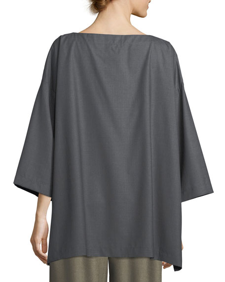 Slim A-Line 3/4-Sleeve Top