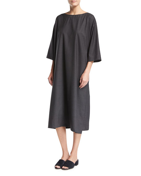 3/4-Sleeve Tunic Dress