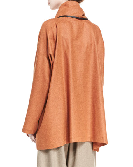 A-Line Cowl-Neck Monk's Top