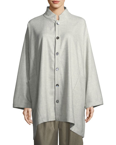Binish Stand-Collar Jacket