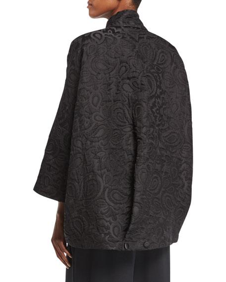 Slope-Shoulder Brocade Jacket