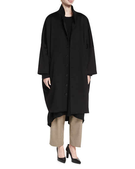 Long Slope-Shoulder Coat