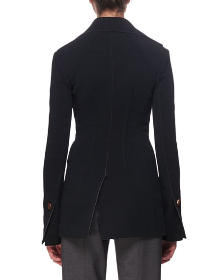 Asymmetric Jersey Blazer