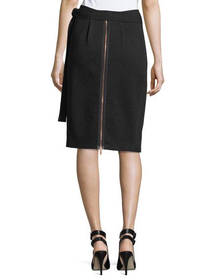Side-Tie Jersey Skirt