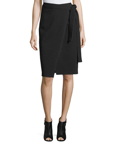 Pencil Skirt-Jersey Suiting