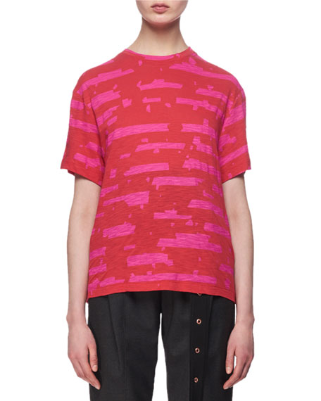 Short-Sleeve Printed Tissue Jersey Tee