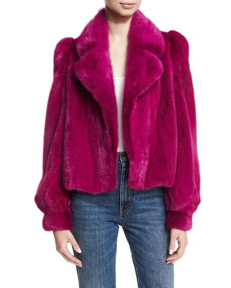 Cropped Mink Fur Jacket
