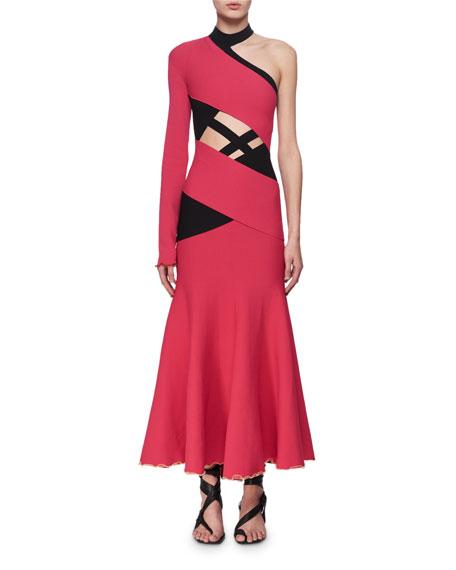 Asymmetric One-Shoulder Bandage Dress