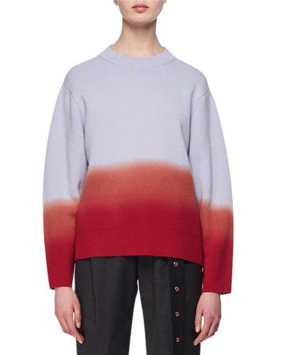 Dip-Dye Crewneck Pullover Top