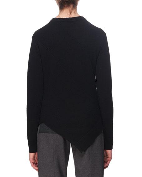 Asymmetric Button-Trim Sweater