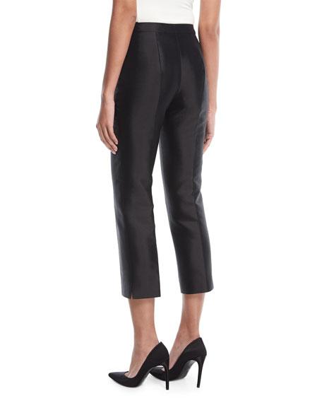 Cropped Shantung Evening Pants