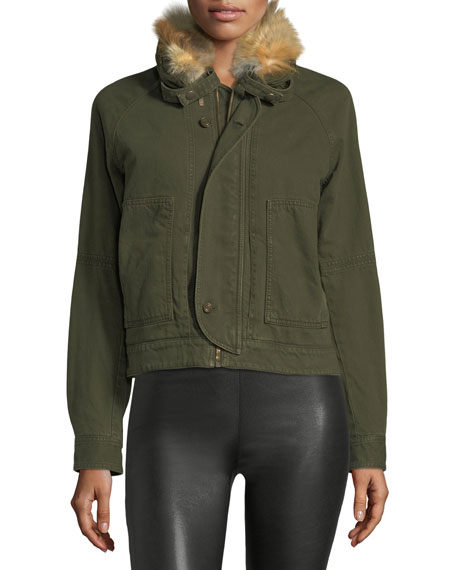 Fur-Lined Canvas Jacket