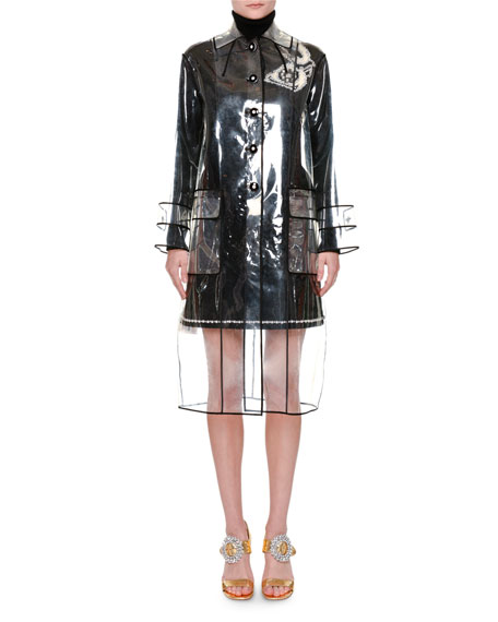 Piped PVC Trenchcoat