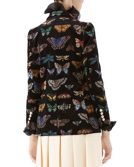 Butterfly Velvet Blazer