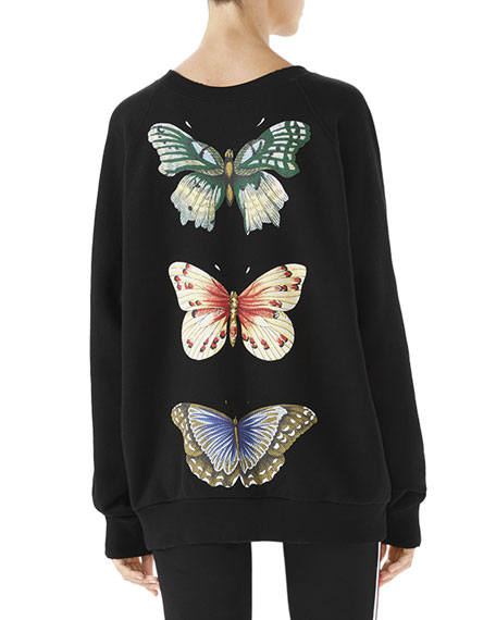 Insect-Embroidered Logo Sweatshirt