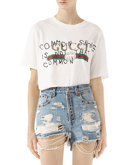 400fc119 Gucci Common Sense Logo T-Shirt