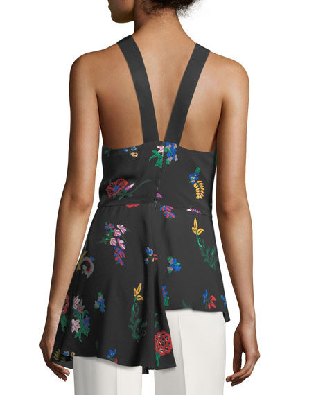 The Kirby Floral-Print Halter Top
