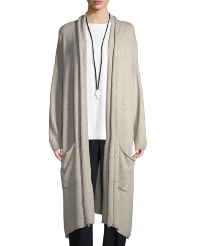 Cashmere Scrunch-Collar Cardigan