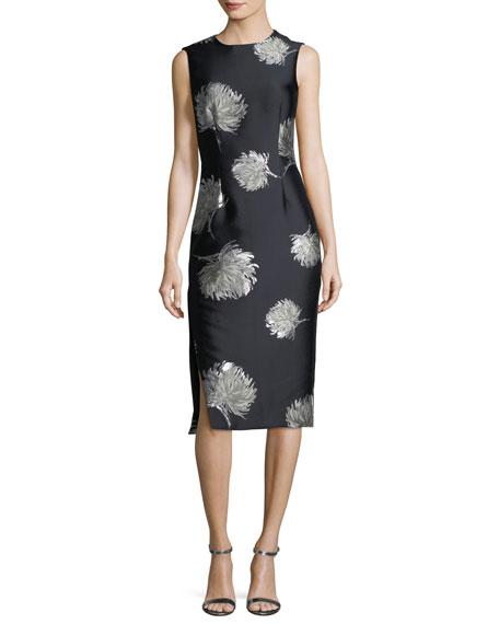 Sleeveless Sateen Sheath Dress
