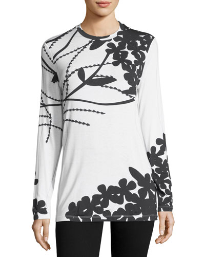 Bold Floral Long-Sleeve T-Shirt