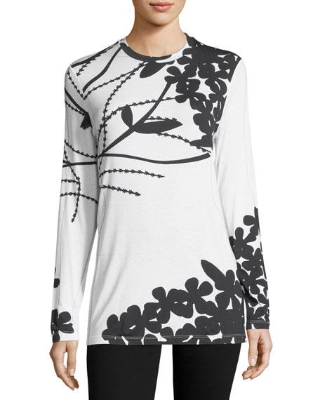 Bold Floral Long-Sleeve T-Shirt
