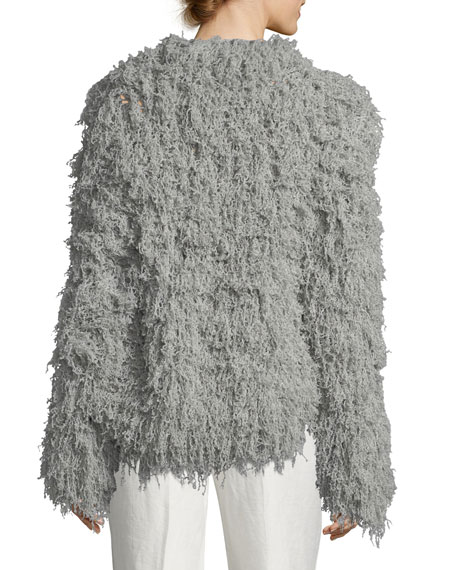 Frayed Cashmere Cardigan Jacket