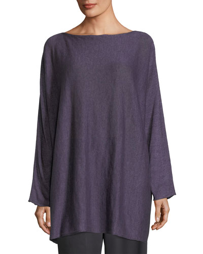 Long-Sleeve Linen Tunic
