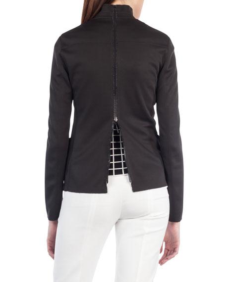 Fabia Reversible Grid-Print Jacket