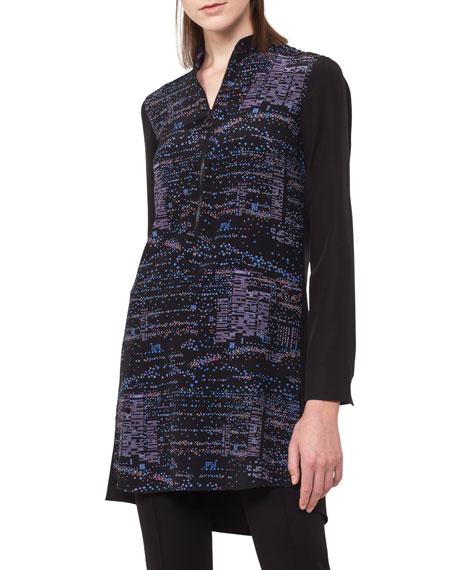 Twilight City Silk Tunic Blouse