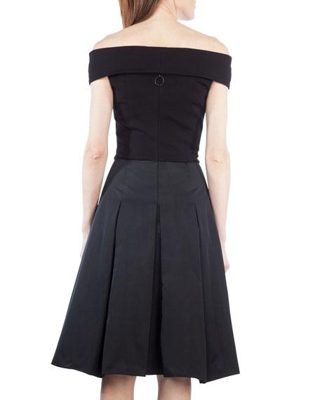 Carmen Off-Shoulder Combo Dress