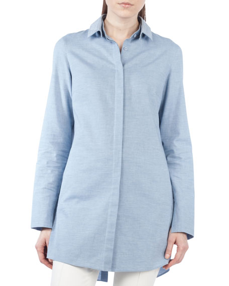 Tunic Blouse w/Detachable Collar