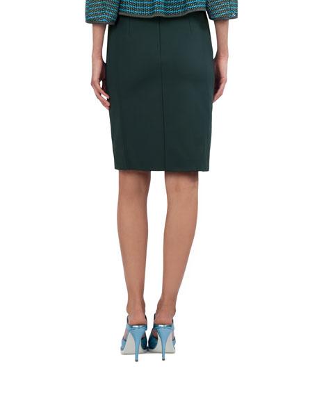 Techno Stretch Pencil Skirt