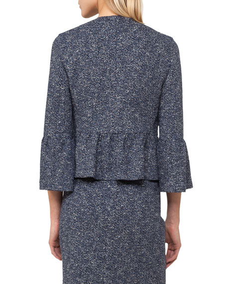 Fantasy Jacquard Zip-Front Jacket