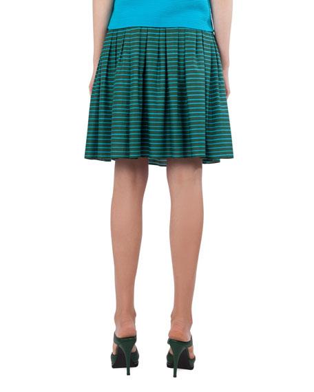 Striped Bell Skirt